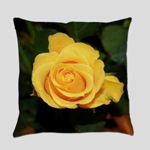 Rose yellow 001 Everyday Pillow