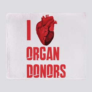 I love organ donors Throw Blanket