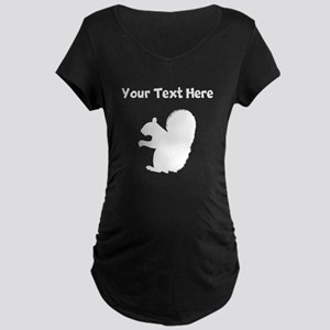 Custom Squirrel Silhouette Maternity T-Shirt