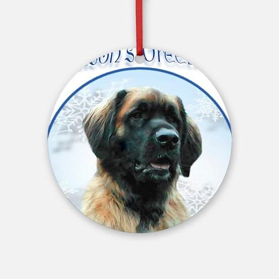 Leonberger Season's Ornament (Round)