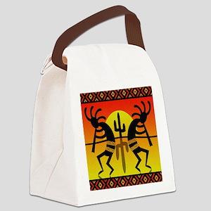 Southwest Dancing Kokopelli Canvas Lunch Bag