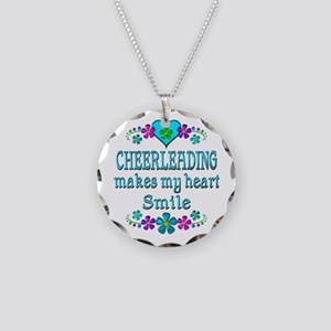 Cheerleading Smiles Necklace Circle Charm