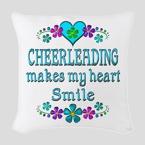 Cheerleading Smiles Woven Throw Pillow