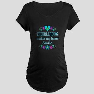 Cheerleading Smiles Maternity Dark T-Shirt