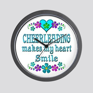 Cheerleading Smiles Wall Clock