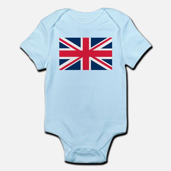 British Flag Baby Light Bodysuit