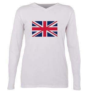 4bbaac99fa7 British Flag Plus Size Long Sleeve Tee