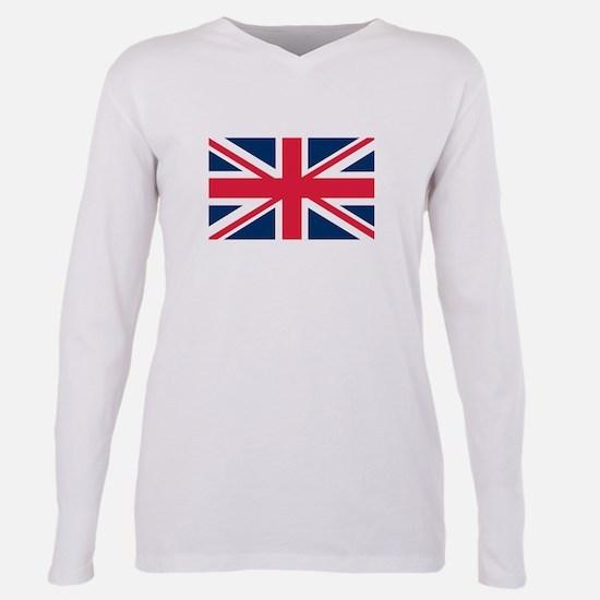 British Flag Plus Size Long Sleeve Tee