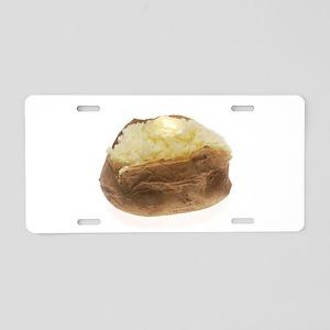 Baked Potato Aluminum License Plate