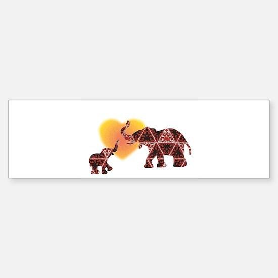 Elephant Bumper Bumper Bumper Sticker