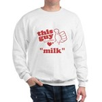Personalize This Guy Hearts Sweatshirt