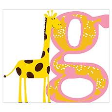 G for girafe Poster