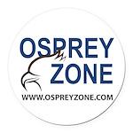 Osprey Zone Round Car Magnet