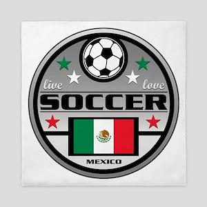 Live Love Soccer Mexico Queen Duvet