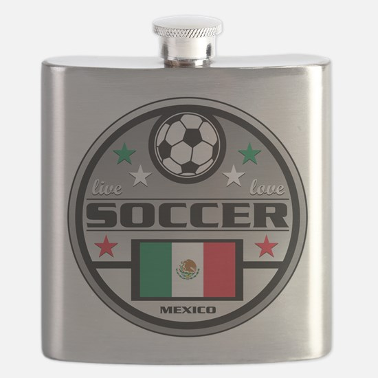 Live Love Soccer Mexico Flask