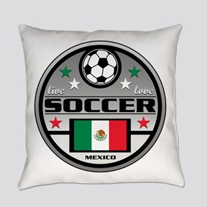 Live Love Soccer Mexico Everyday Pillow