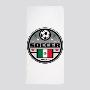Live Love Soccer Mexico Beach Towel