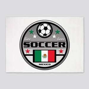 Live Love Soccer Mexico 5'x7'Area Rug