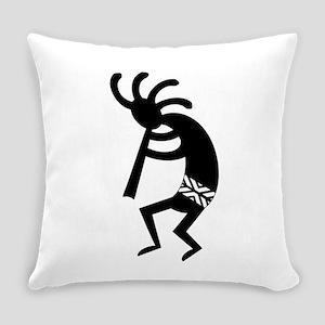 Black And White Kokopelli Everyday Pillow