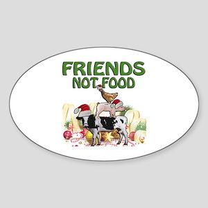 CHRISTMAS FRIENDS NOT FOOD Sticker