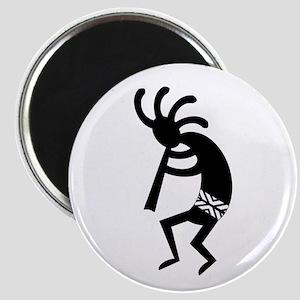 Black And White Kokopelli Magnets