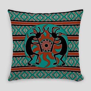 Turquoise Kokopelli Everyday Pillow