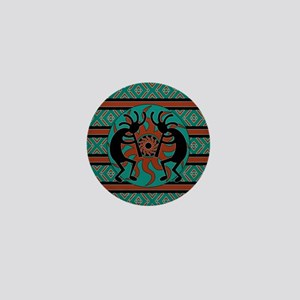 Turquoise Kokopelli Mini Button