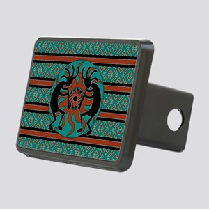 Turquoise Kokopelli Rectangular Hitch Cover