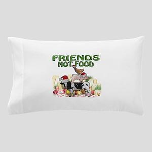 CHRISTMAS FRIENDS NOT FOOD Pillow Case