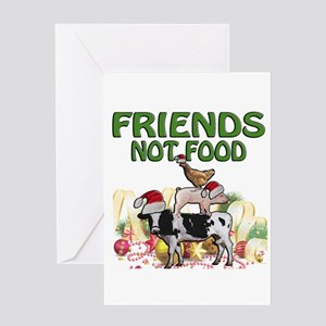 CHRISTMAS FRIENDS NOT FOOD Greeting Cards
