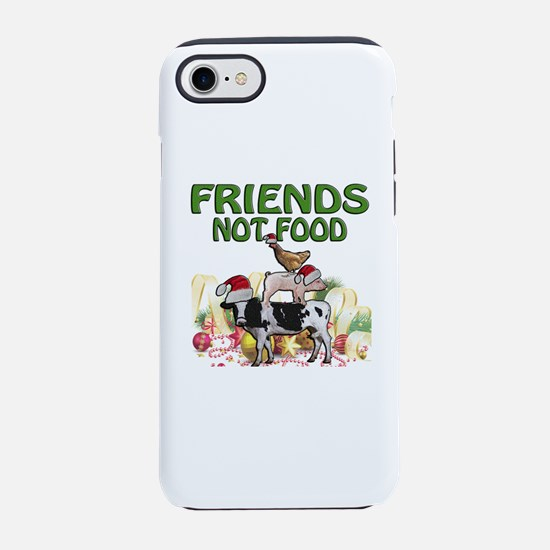 CHRISTMAS FRIENDS NOT FOOD iPhone 8/7 Tough Case