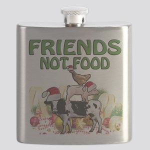 CHRISTMAS FRIENDS NOT FOOD Flask