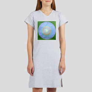 Blue Faded Circle Women's Nightshirt
