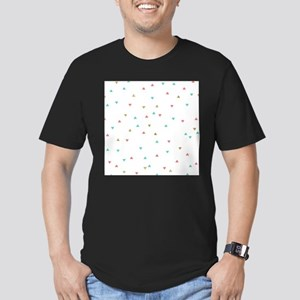 Mint Coral Gold Triangle Scatter T-Shirt