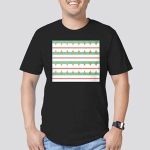 Mint Coral gold Triangle Stripes T-Shirt