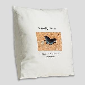 Butterfly Power Gifts Burlap Throw Pillow