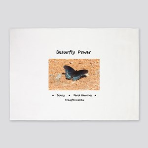 Butterfly Power Gifts 5'x7'Area Rug