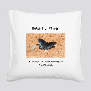 Butterfly Power Gifts Square Canvas Pillow