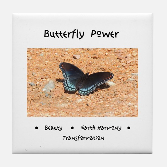Butterfly Power Gifts Tile Coaster