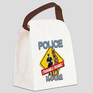 Criminals Beware Canvas Lunch Bag