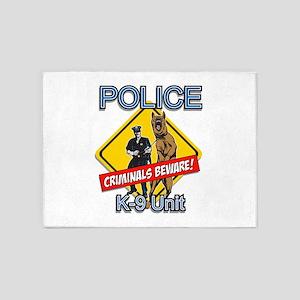 Criminals Beware 5'x7'Area Rug