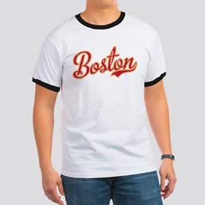 Boston Script Gold VINTAGE Ringer T