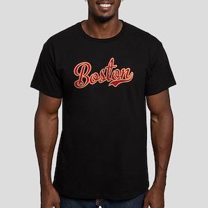 Boston Script Gold VIN Men's Fitted T-Shirt (dark)