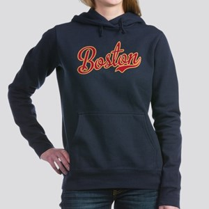 Boston Script Gold VINTA Women's Hooded Sweatshirt