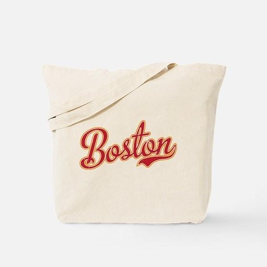 Boston Script Gold VINTAGE Tote Bag