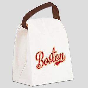 Boston Script Gold VINTAGE Canvas Lunch Bag