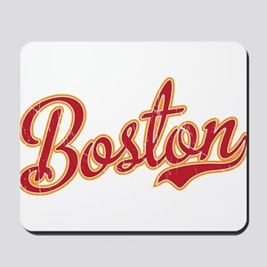 Boston Script Gold VINTAGE Mousepad