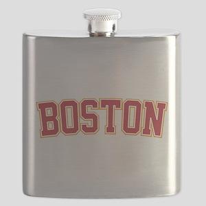 Boston Script Gold VINTAGE Flask