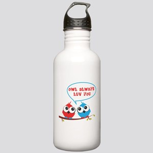 Owl always luv you Sports Water Bottle