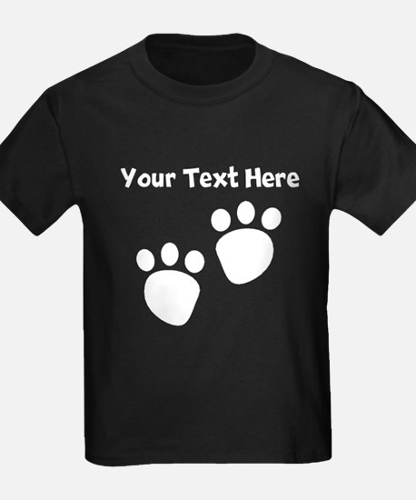 Custom Pawprints Silhouette T-Shirt